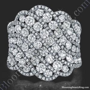 Starry Nights 3.76 ctw. Round Diamond and White Gold Fashion Ring – bbr777
