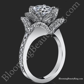 The Crimson Rose 1.58 ctw. Rose Cut Flower Diamond Engagement Ring – bbr607