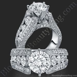 The High Class Escalating Split Shank Diamond Engagement Ring – bbr392