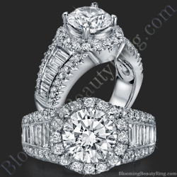 The Majestic Halo Diamond Engagement Ring