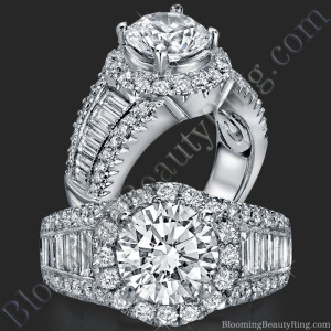 The Majestic Halo Diamond Engagement Ring – bbr291