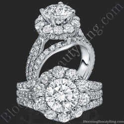 The Rising Diamond – Split Halo – Engagement Ring