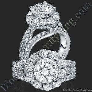 The Rising Diamond – Split Halo – Engagement Ring – bbr542