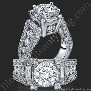 The Royal Throne Diamond Engagement Ring – bbr214-1