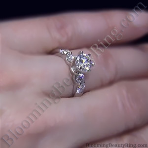 Tiffany Style 4 Large Stone Diamond Engagement Ring – bbr5544e-1