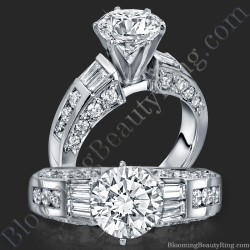 Traditional Style 6 Prong Engagement Ring - bbr328
