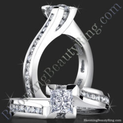 .70 ctw. Deep Set Tension and Bezel Diamond Engagement Ring - bbr433