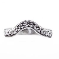 wb041bbr | Antique Filigree Wedding Band | Curved and Engraved | Shadow Band<br>$557