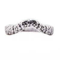 wb043bbr | Antique Filigree Wedding Band | Curved and Engraved | Flower and Ray Petals<br>$594